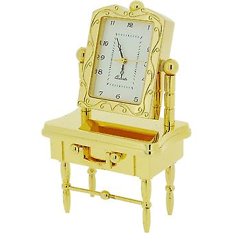 Gift Time Products Dressing Table Miniature Clock - Gold