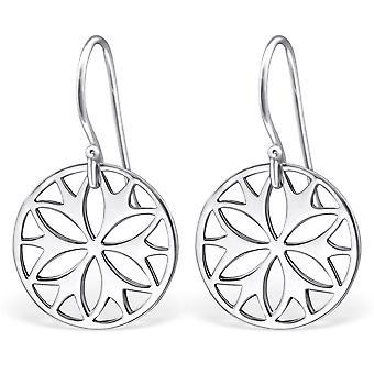 Flower - 925 Sterling Silver Plain Earrings - W27166x