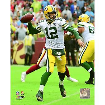 Aaron Rodgers 2018 akcji Photo Print