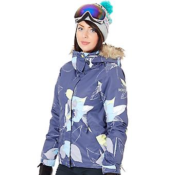 Roxy Crown Blue-Bold Petal Jet Ski Womens Ski Jacket