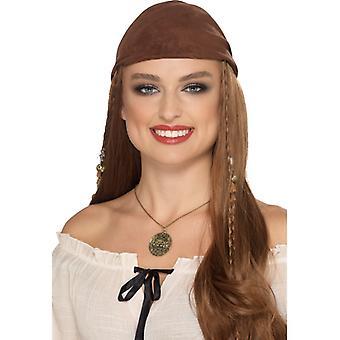 Piraten Halskette goldfarben Accessoire Schmuck Totenkopf Seeräuber Karneval