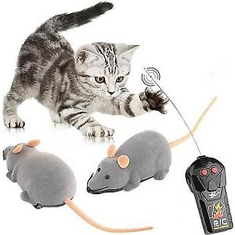 Color WillekeurigeRC Wireless Remote Control Rat Simulatio Mouse Toy For Cat Dog Pet Novelty