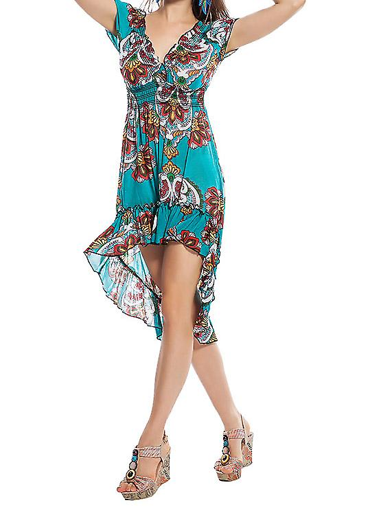 Waooh - Fashion - Dress with ruffles and printed