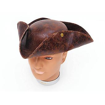 Tricorn Hat. Brown 'Ancient Look'.
