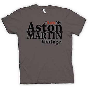 Mens T-shirt - I Love My Aston Martin Vantage - Car Enthusiast