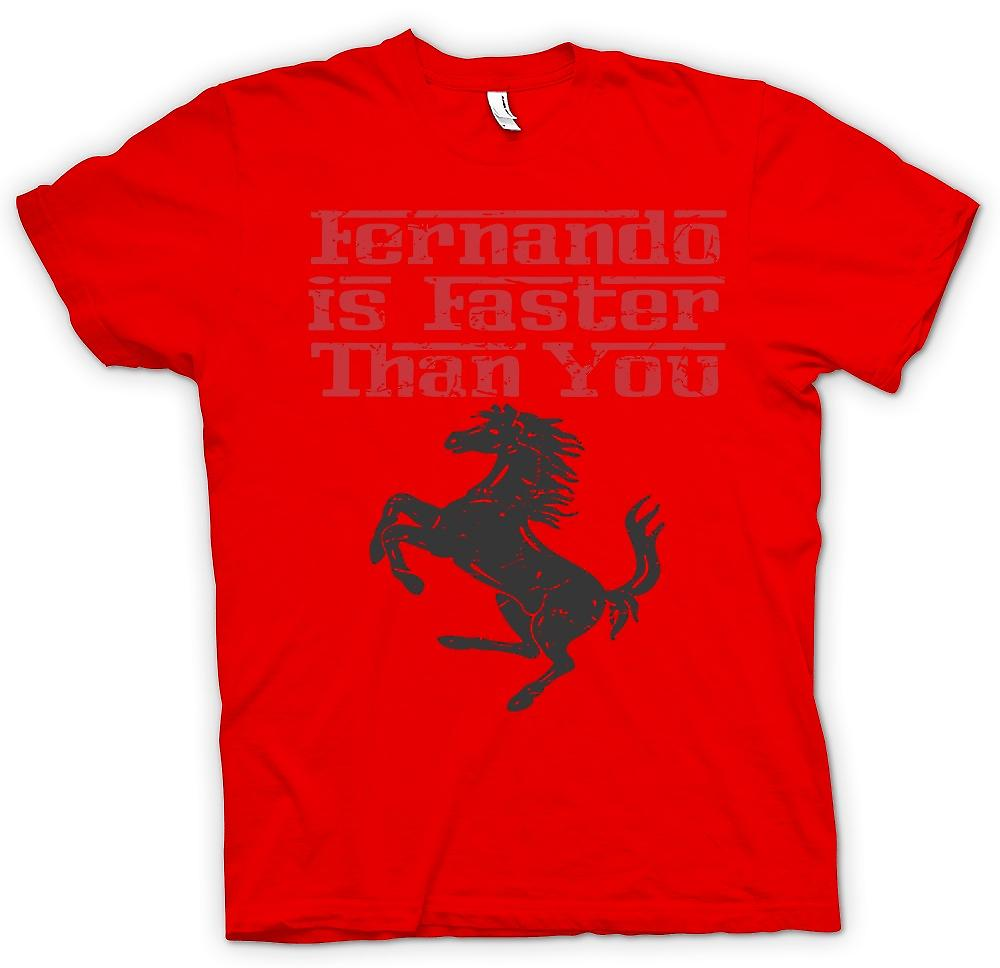 Herr T-shirt - Ferrari - Fernando är snabbare än du