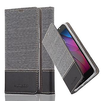 Cadorabo case for Motorola MOTO G5S - mobile case with stand function and compartment in the fabric design - case cover sleeve pouch bag book
