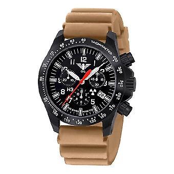 KHS watches mens watch black platoon chronograph KHS. BPCLDR. DT