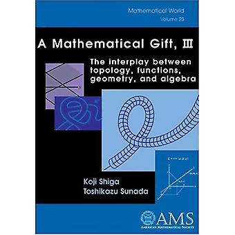 A Mathematical Gift, III: The Interplay Between Topology, Functions, Geometry, and Algebra