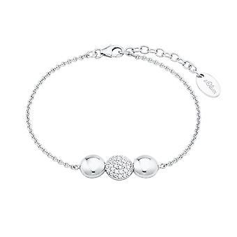 s.Oliver joia senhoras pulseira prata zirconia cúbico 2024214