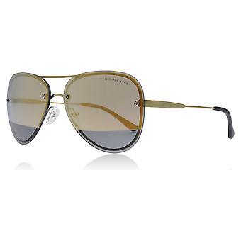 Michael Kors MK1026 11681Z blass Gold La Jolla Piloten Sonnenbrille Objektiv Kategorie 3 Objektiv gespiegelten Größe 59mm
