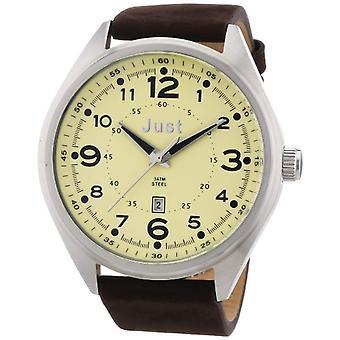Just Watches-wristwatches, quartz analog, skin, Man