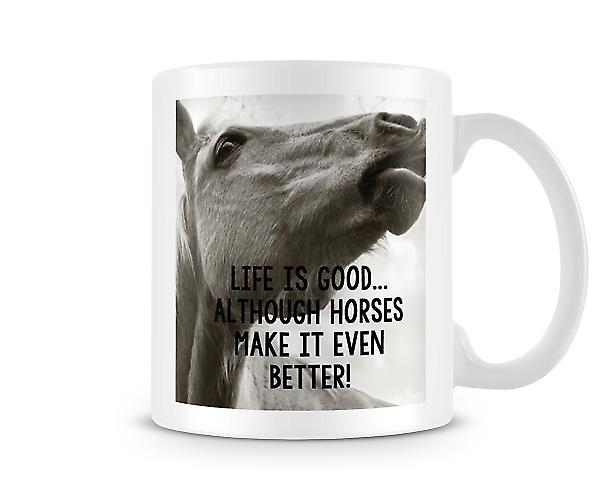 Life Is Good Horses Make It Better Mug