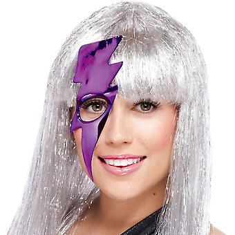 Lightning Bolt Mask - Purple For Adults