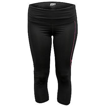 Rendimiento de compresión de Virus MusclePharm MP mujer 3/4 recortada pantalones - negro