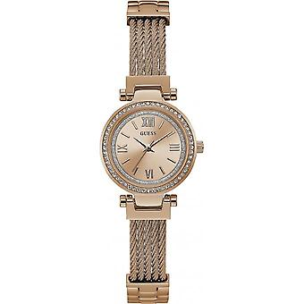 Guess W1009L3 watch - shows steel Rose crystals woman