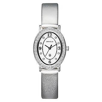 ORPHELIA Ladies Analogue Watch Oval Edition Silver Leather 122-1713-18