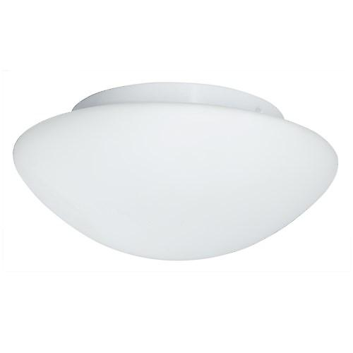 Searchlight 1910-28 Domed Bathroom Flush Ceiling Light With Opal Glass. 30Cm