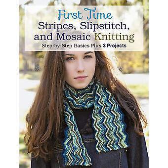 First Time Stripes - Slipstitch - and Mosaic Knitting - Step-by-Step B
