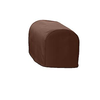 Changing Sofas® Standard Size Brown Faux Leather Pair of Arm Caps for Sofa Armchair