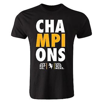 Juventus Champions League Winners T-shirt (Black)