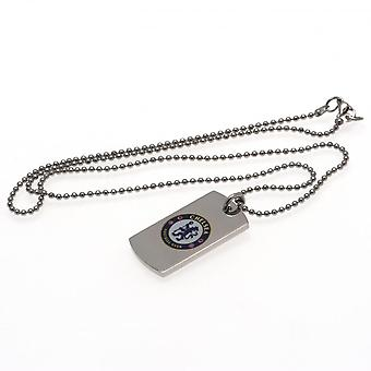 Chelsea FC Colour Crest Dog Tag And Chain
