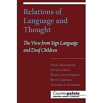 Suhteet kieli ja ajattelin: View From viittoma kieli ja kuurojen lapset