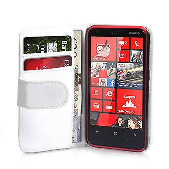 YouSave Accessories Nokia Lumia 620 Leather Effect Wallet Case White