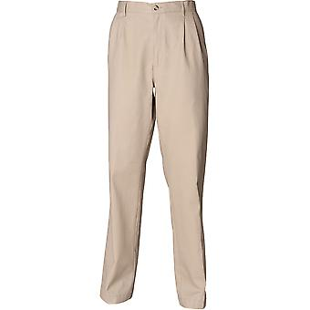 Henbury - Teflon®-Coated Double Pleated Chino Herren Hose