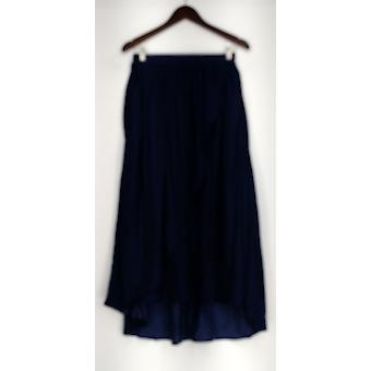 Lisa Rinna Collection Skirt Crinkle Charmeuse Pull-On Indigo Blue A290723