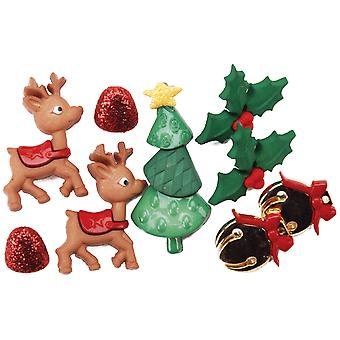 Dress It Up Holiday Embellishments Reindeer Games Diuhlday 5615