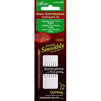Black Gold Quilting Needles Size 12 6 Pkg 4982