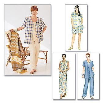 Women's Shirt, Dress Or Top, Pull  On Pants Or Shorts  J 26W  28W  30W Pattern M2208  0J0