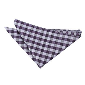 Purple Gingham Check Handkerchief / Pocket Square