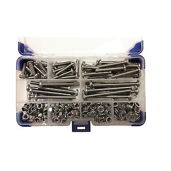 490 Piece M5 Pan Slotted Machine Screws Zinc Plated with Nuts and Washers