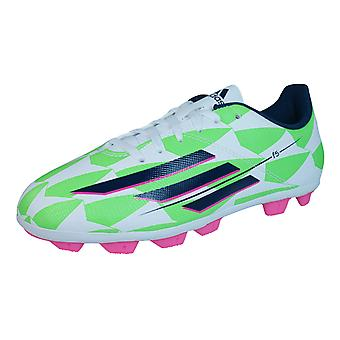 adidas F5 HG J Boys Football Boots / Cleats - White and Green