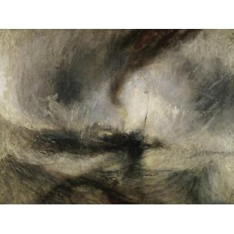 Snow Storm at Sea 1842 Joseph Mallord William Turner Tate Gallery London Poster Print