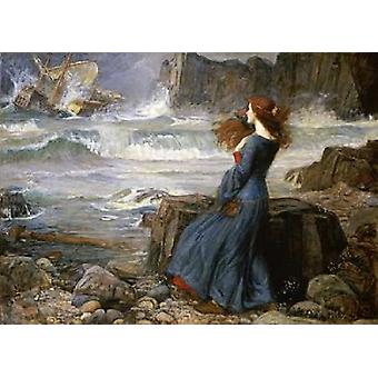 Miranda - The Tempest Poster Print by  John William Waterhouse