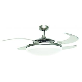"Ceiling Fan Fanaway Evo2 Endure Chrome brushed 122 cm / 48"" with retractable blades"