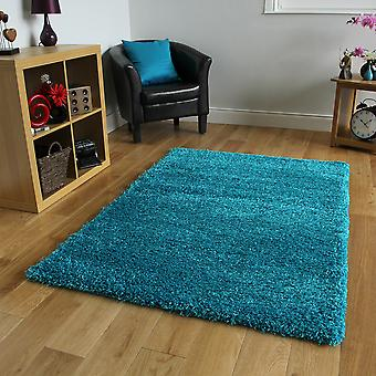 Teal Blue Soft Shaggy Kids Rug Ontario