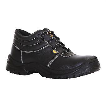 Slimbridge Thum Size 10 Safety Boots, Black