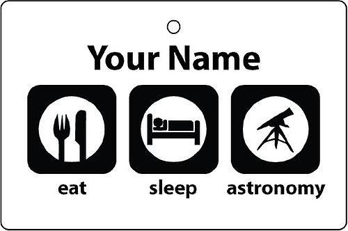 Personalised Eat Sleep Astronomy Car Air Freshener