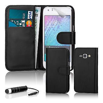 Book wallet case + stylus for Samsung Galaxy Trend 2 Lite - Black