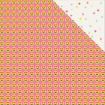 Emoji Love Double-Sided Cardstock 12