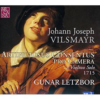 Gunar Letzbor - Johann Joseph Vilsmayer: Artificiosus Concentus Pro kamera en Violin Solo 1715 [CD] USA import