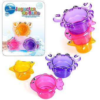 Juinsa Set 3 Cubiletes Animales Baño (Outdoor , Pool And Water Games , Waterguns)