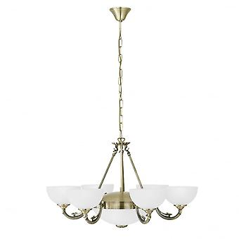 Eglo SAVOY Vintage antieke plafond 8 lichte hanger
