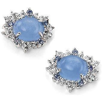 925 Silver Blue Cat And Zirconium Earring