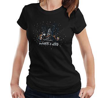 Vinteren er her Calvin og Hobbes Game Of Thrones kvinder T-Shirt