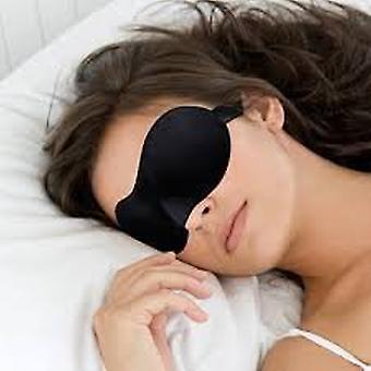 Boolavard® TM Sweet Dreams Contoured Sleep Mask with Earplugs, Black